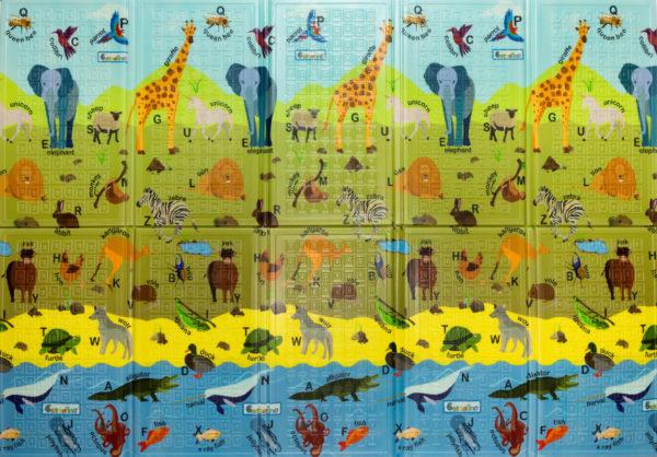 Casmatino dětská skládací podložka ABC Animals - 2000x1400x10